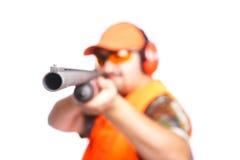 Fucile da caccia nel vostro fronte Fotografia Stock
