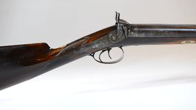 Fucile da caccia occidentale antico archivi video