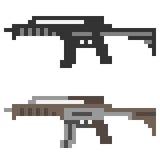 Fucile di assalto della pistola dell'icona di arte del pixel dell'illustrazione Immagine Stock