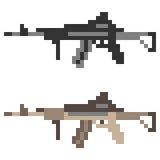 Fucile di assalto della pistola dell'icona di arte del pixel dell'illustrazione Immagini Stock