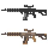 Fucile di assalto della pistola dell'icona di arte del pixel dell'illustrazione Fotografie Stock