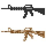 Fucile di assalto della pistola dell'icona di arte del pixel dell'illustrazione Immagini Stock Libere da Diritti