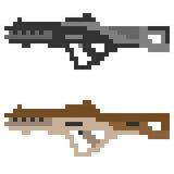 Fucile di assalto della pistola dell'icona di arte del pixel dell'illustrazione Fotografia Stock