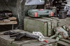 Fucile di tiratore franco per lasertag fotografie stock