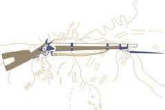 fucile Illustrazione Immagini Stock Libere da Diritti