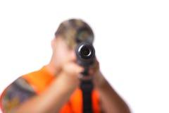 Fucile nel vostro fronte Immagini Stock