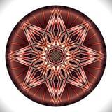 Fucinettemedaillon: Geometrisch Vectorart octagonal design royalty-vrije illustratie