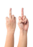 Fuck middle finger Royalty Free Stock Images