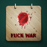 Fuck war Royalty Free Stock Images