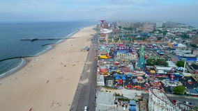 Fuco aereo video Coney Island Brooklyn NY stock footage