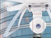 Fuco bianco moderno che si libra in un cielo blu luminoso 3d Fotografie Stock