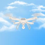 Fuco bianco moderno che si libra in un cielo blu luminoso 3d Fotografia Stock Libera da Diritti