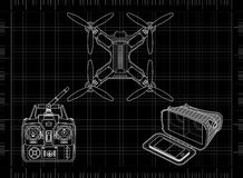 Fuco con l'ingranaggio di VR illustrazione di stock