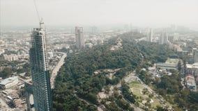 Fuco della città dell'orizzonte video Orizzonte di Pattaya dalla vista aerea, città di Pattaya, Chonburi, Tailandia archivi video