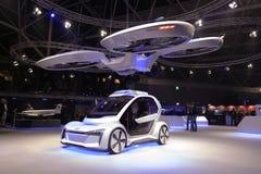 Fuco di Airbus ed automobile di audi ad una mostra fotografie stock libere da diritti