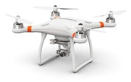 Fuco di Quadcopter con la macchina fotografica del video 4K e della foto Fotografie Stock Libere da Diritti