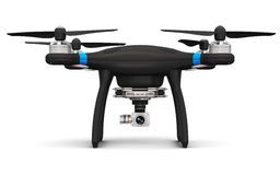 Fuco di Quadcopter con la macchina fotografica del video 4K e della foto Immagini Stock Libere da Diritti