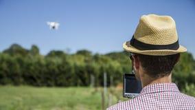 Fuco di Quadcopter per agricoltura Immagine Stock Libera da Diritti