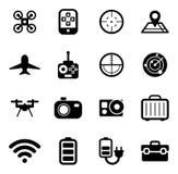 Fuco o icone di Quadcopter Fotografie Stock