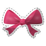 Fucsia bow icon image design Stock Photo