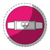 Fucsia bracelet heart cardiology icon. Image,  illustration Stock Photos