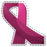 Fucsia breast cancer ribon image. Illustration Stock Photography