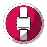 Fucsia symbol smartwatch button icon Stock Photography