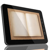 Fucure of education - Tablet computer books Stock Image