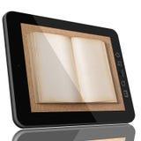 Fucure van onderwijs - de computerboeken van de Tablet Stock Afbeelding