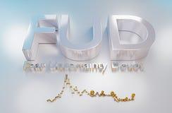 FUD is een acroniem voor vrees, onzekerheid en twijfel royalty-vrije illustratie