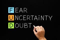 FUD - Strach wątpliwość I niepewność obrazy stock