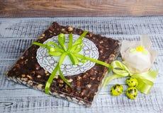 Fudge зефира фундука шоколада с оранжевой настойкой и bis Стоковое Изображение RF