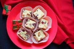 Fudge рождества с малыми подарками Стоковое Изображение RF