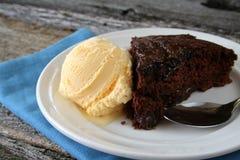 fudge торта горячий Стоковое фото RF