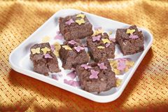 Fudge шоколада риса Moongil, бамбуковый fudge шоколада риса Стоковые Фото