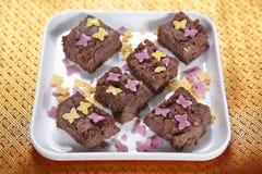 Fudge шоколада риса Moongil, бамбуковый fudge шоколада риса Стоковые Изображения RF