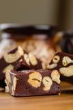 Fudge шоколада с анакардией Стоковые Фото
