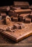 fudge шоколада домодельный Стоковое фото RF