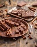 fudge шоколада домодельный Стоковые Изображения RF
