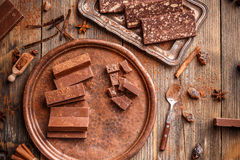 fudge шоколада домодельный Стоковые Фото