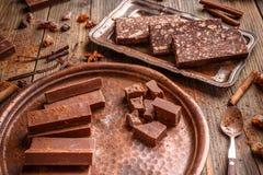 fudge шоколада домодельный Стоковая Фотография