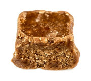 Крупный план макроса вкусного fudge шоколада Стоковые Изображения