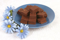 Fudge & flores Imagens de Stock