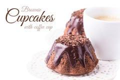Fudge Brownie Cupcakes Royalty Free Stock Images