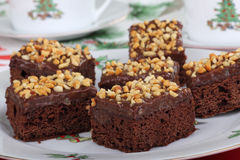 Fudge Brownies Stock Photography