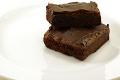 Fudge Brownies Stock Photos