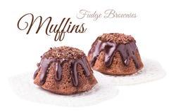Fudge brownies Stock Photography