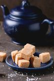 Fudge cand and teapot Royalty Free Stock Image