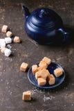 Fudge cand and teapot Stock Photos