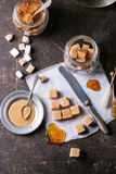 Fudge candy and caramel sause Stock Image